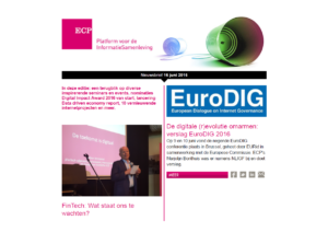 ECP nieuwsbrief 16 juni 2016