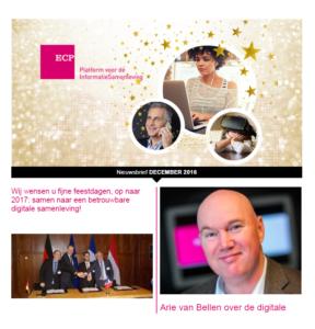 Nieuwsbrief ECP 15 december 2016