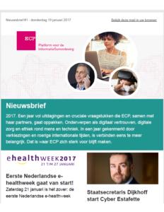ECP Nieuwsbrief 19 januari 2017