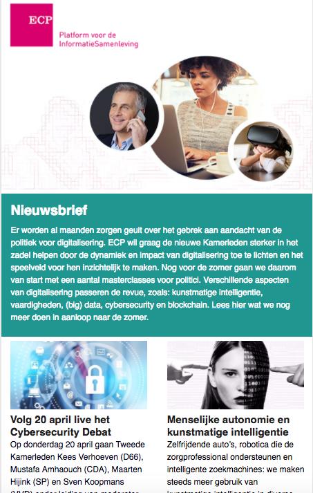ECP Nieuwsbrief april 2017