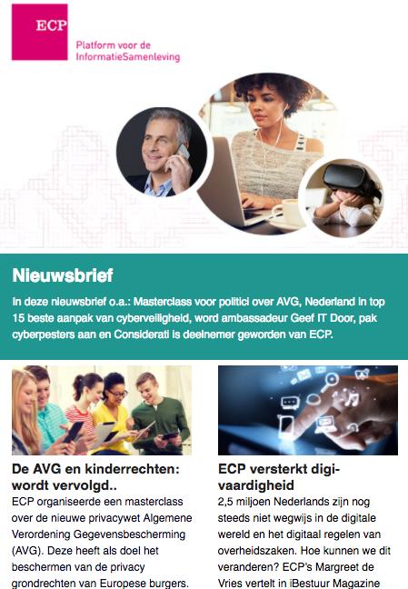 ECP Nieuwsbrief 13 juli 2017
