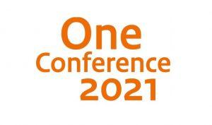 logo met oranje tekst One Conference 2021